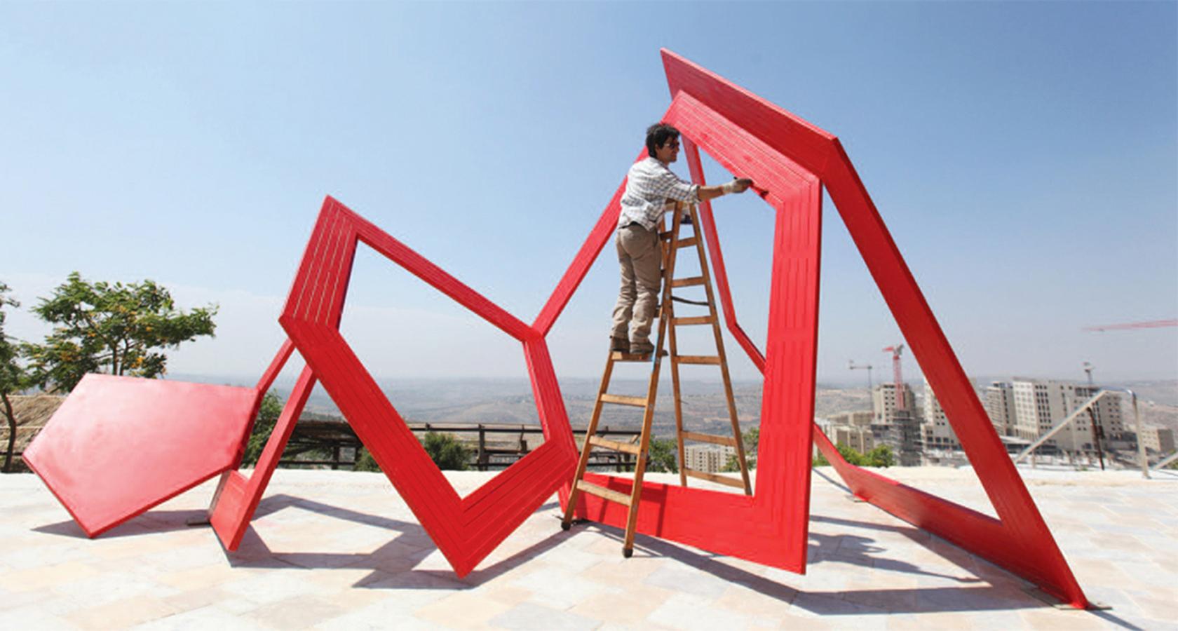 Thierry Ferreira, Sculpture,  Rawabi, Palestine, 2014