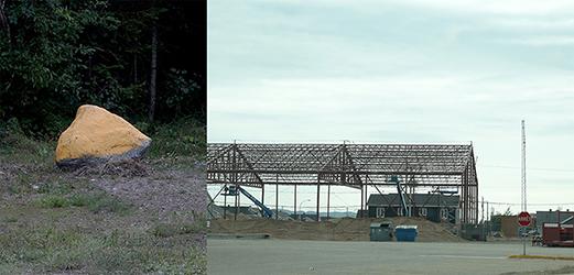 CUBICindustrie#61028021 2016 Aluminum and rock 260 x 300 x 270 cm Sept-îles, Quebec, Canada