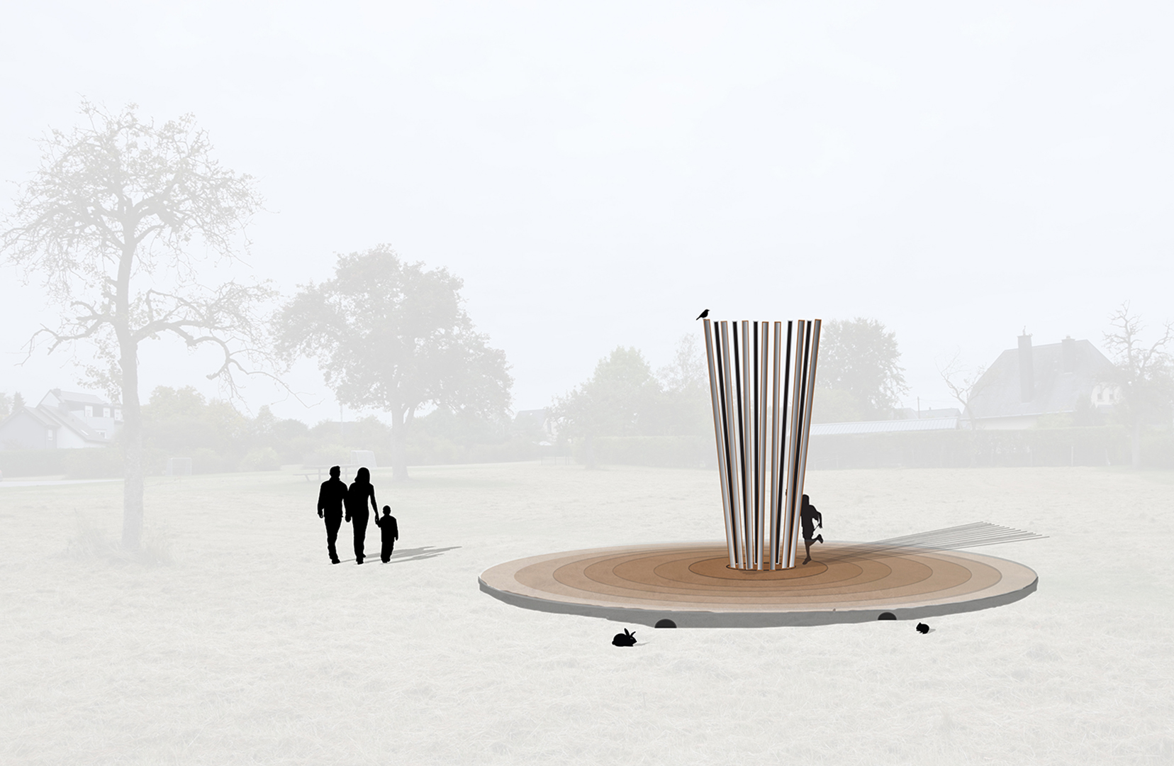 drawing, Project, sculpture, model, public sculpture, public art, architecture, contemporary art, art, Thierry Ferreira, design, installation, sitespecific, photography, video, Landart, Luxembourg